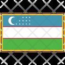 Uzbekistan Flag Country Icon