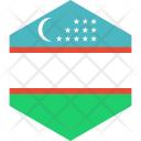Uzbekistan Flag World Icon