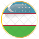 Uzbekistan Country Flag Icon