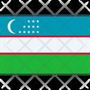 Uzbekistan Flag Uzbekistan National Icon