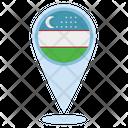 Uzbekistan Location Icon