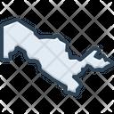 Uzbekistan Map Icon