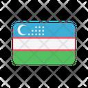 Uzbekistan Uz Flag Country Icon