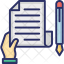 V Contract Contract Law Icon