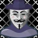 V Mask Smile Icon