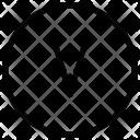 V Alphabet Sign Icon