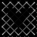 V Uppercase Latin Icon