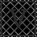 V Uppercase Letter Icon