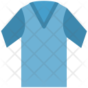V Neck Shirt Tee Icon