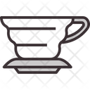 V Shape Drip Cup Mug Icon