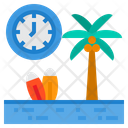 Vacation Time Clock Icon
