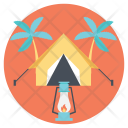 Summer Camp Vacation Icon