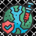 Vaccinated World Icon