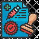 Vaccination Certificate Icon