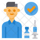 Vaccination Complete Vaccine Syring Icon