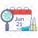 Appointment Date Vaccination Date Meeting Icon