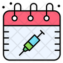 Vaccination Day Calendar Date Icon