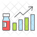 Vaccination Growth Vaccination Graph Statistics Icon
