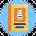 Vaccination Guideline Book Medicine Vaccine Icon