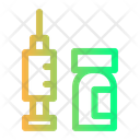 Vaccine Injection Syringe Icon