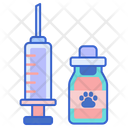 Vaccine Animal Vaccine Bottle Icon