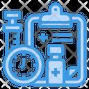 Vaccine Clock Medicine Icon