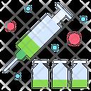 Vaccine Injection Syringe Icon