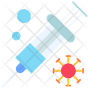 Vaccine Injection Virus Icon