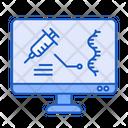 Computer Vaccine Analysis Icon