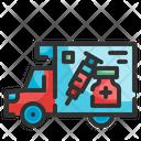 Vaccine Delivery Truck Icon