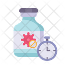 Vaccine Virus Time Icon