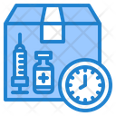 Vaccine Expiry Date Time Clock Icon
