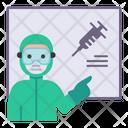 Teach Vaccine Blackboard Icon