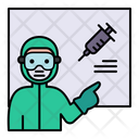 Teach Vaccine Blackboard Icon