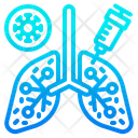 Vaccine In Lung Icon