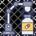 Vaccine Manufacturing Vaccine Bottle Medicine Production Icon