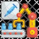 Vaccine Production Vaccine Robot Icon