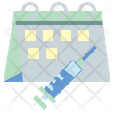 Vaccine Schedule Medical Appointment Vaccination Icon