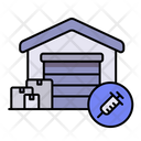 Warehouse Vaccine Package Icon