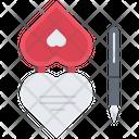 Valentine Pen Heart Icon