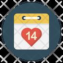 Date Valentine Calendar Icon