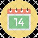 Valentine Day Calendar Icon