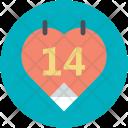Valentine Calendar Day Icon