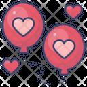 Valentine Balloon Icon