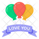 Balloons Decorative Balloons Love Balloons Icon