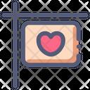 Love Sign Board Icon