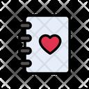 Love Book Valentine Icon