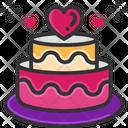 Valentine Cake Anniversary Cake Wedding Cake Icon