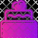 Valentine Day Cake Birthday Icon