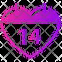 Valentine Calendar Icon